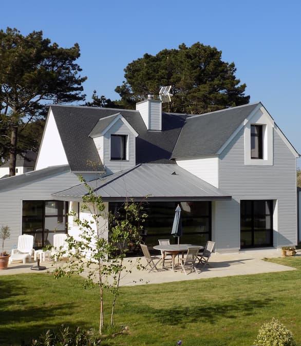 Construction maison habitat sur l'ile de Groix
